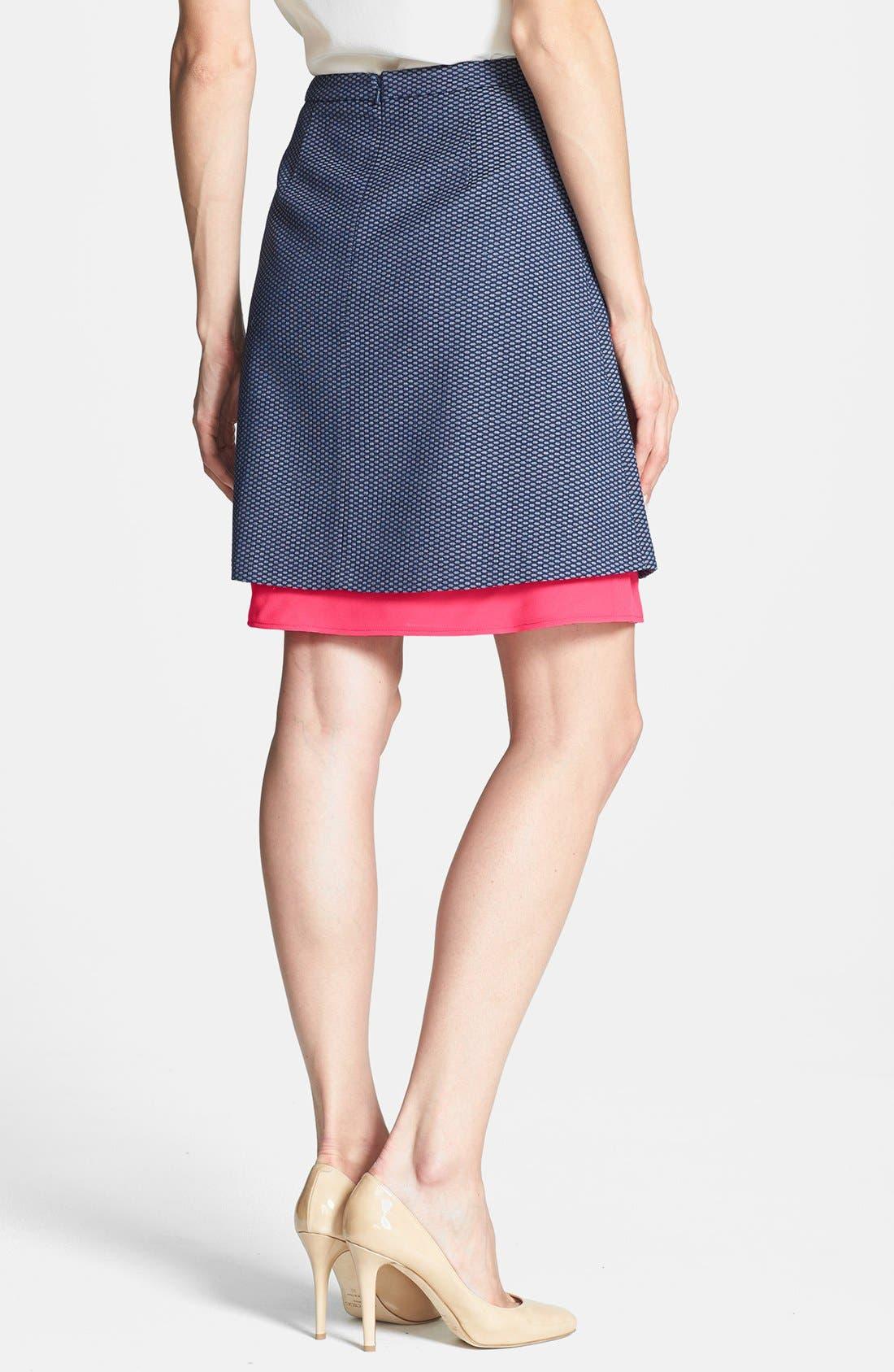 Alternate Image 2  - Halogen® Jacquard Mesh A-Line Skirt (Petite)