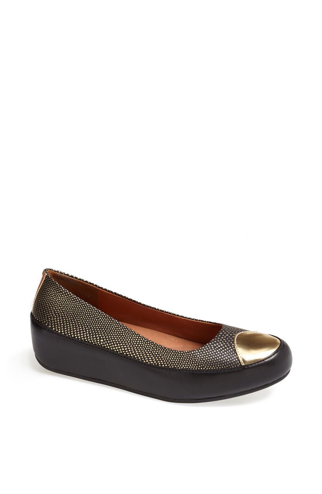 Alternate Image 1 Selected - FitFlop 'Dué™ Oro' Leather Flat