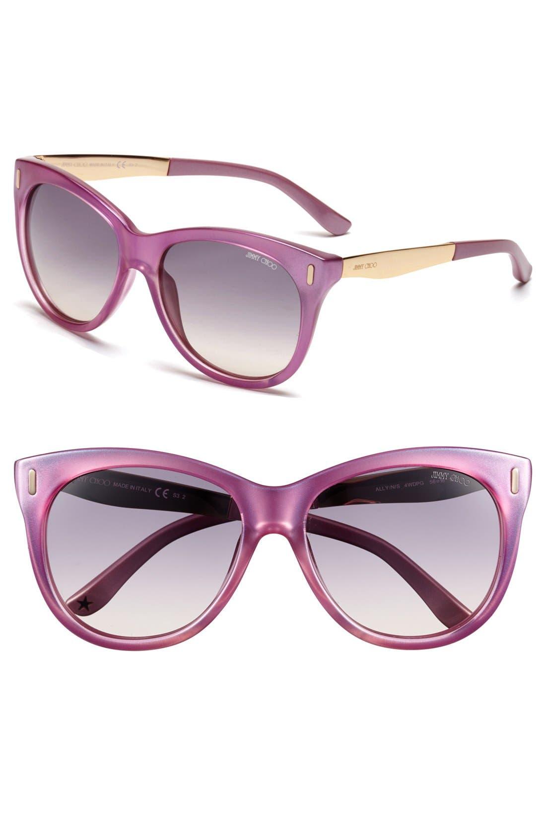 Main Image - Jimmy Choo 56mm Retro Sunglasses