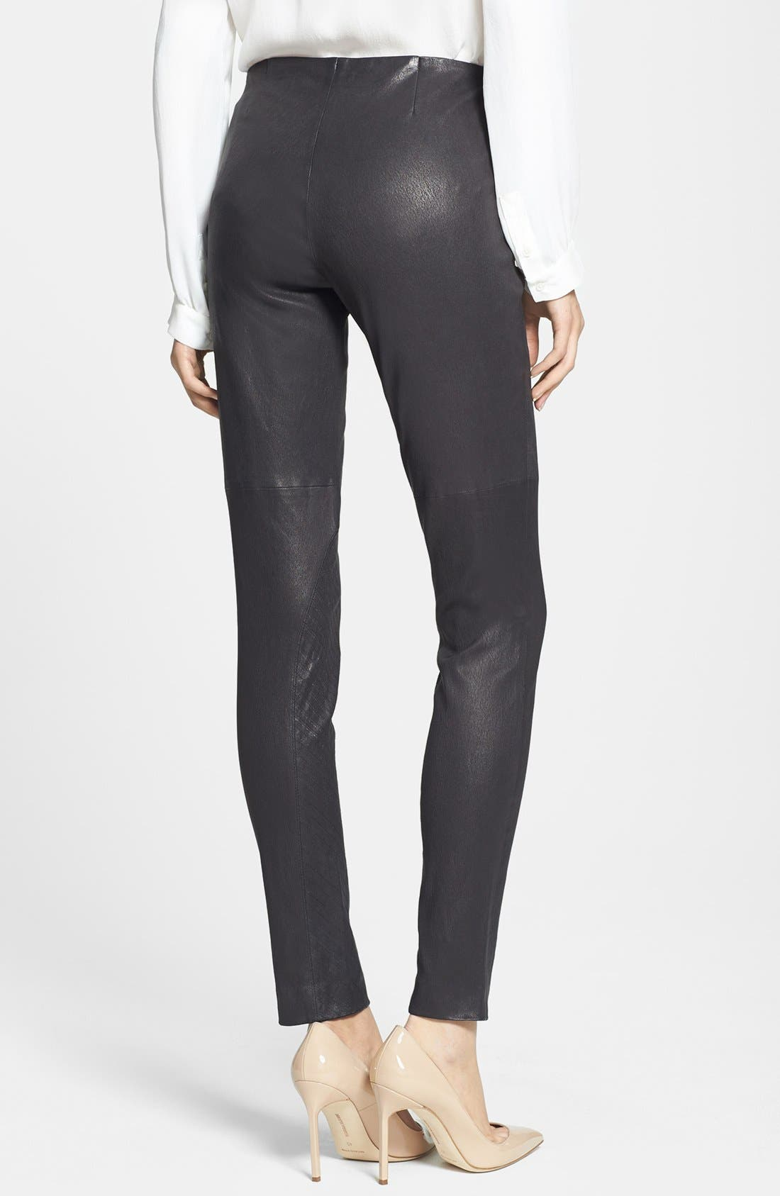 Alternate Image 2  - Theory 'Redell L.' Leather Skinny Pants