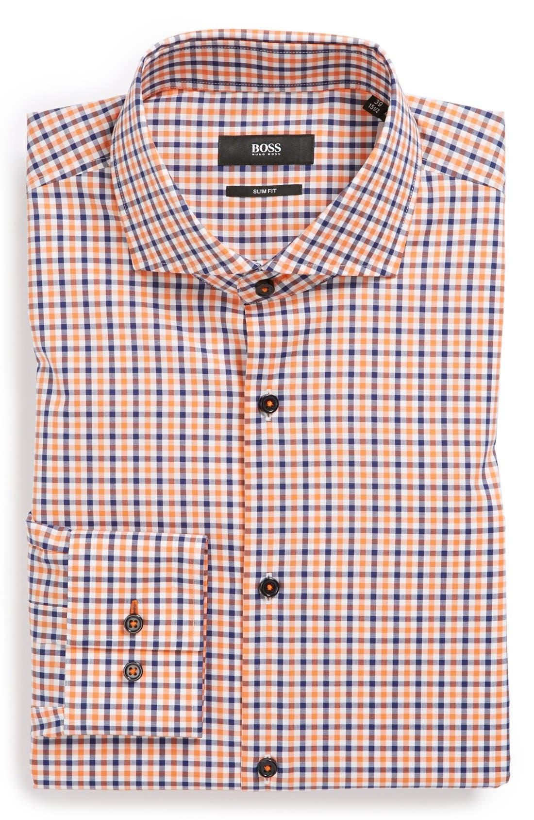 Alternate Image 1 Selected - BOSS HUGO BOSS 'Jaser' Slim Fit Dress Shirt