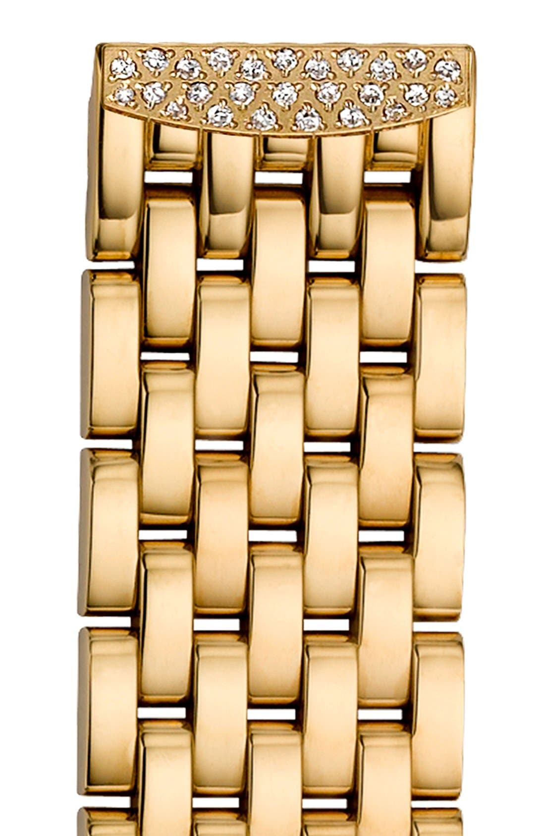 MICHELE 'Urban Mini Diamond' 16mm Gold Plated Bracelet Watchband