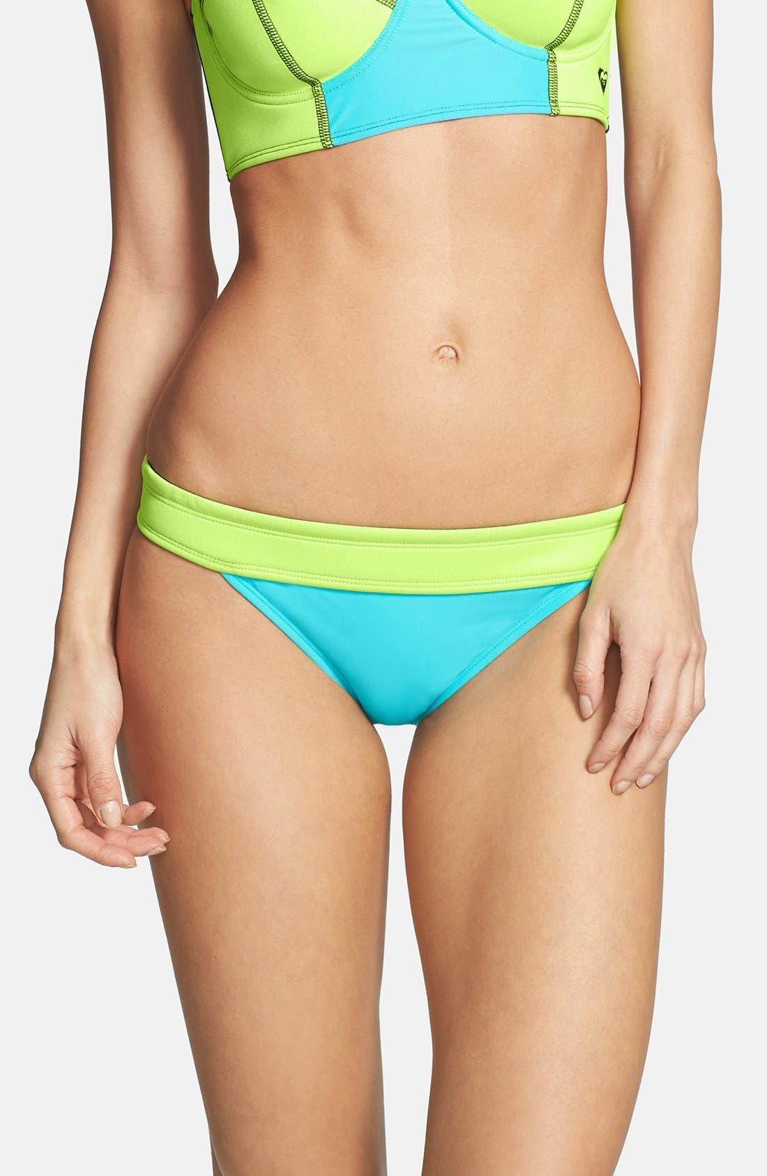 Alternate Image 1 Selected - Roxy 'Neon Tide' Low-Rise Bikini Bottoms