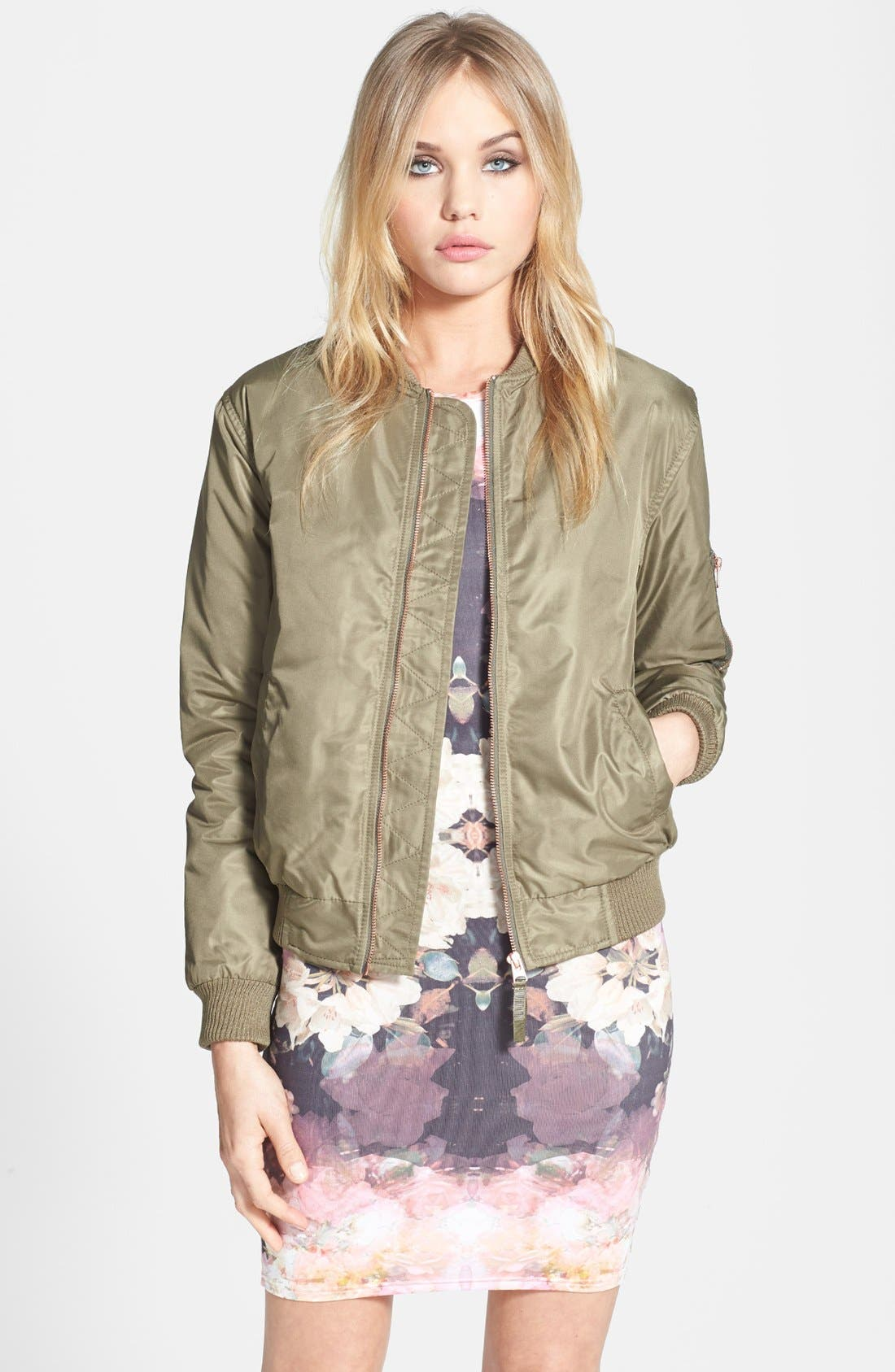 Alternate Image 1 Selected - Topshop 'Airforce' Bomber Jacket