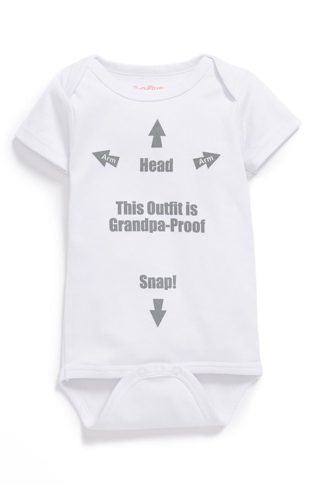 Main Image - Sara Kety Baby & Kids 'Grandpa-Proof' Bodysuit (Baby Girls)