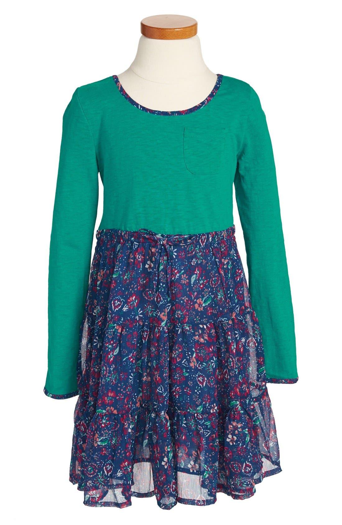 Main Image - Roxy 'Sandy Footprints' Dress (Toddler Girls)