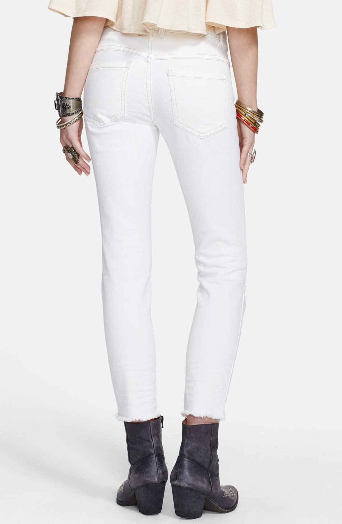 Alternate Image 2  - Free People Mid Rise Skinny Jeans
