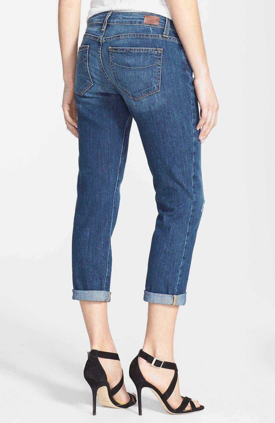 Alternate Image 2  - Paige Denim 'Jimmy Jimmy' Distressed Crop Jeans (Luca)