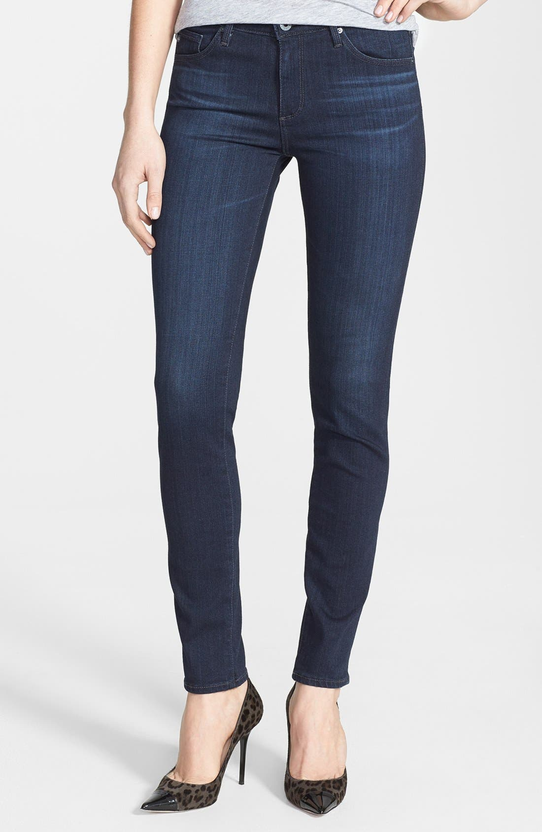 Alternate Image 1 Selected - AG 'The Prima' Mid Rise Cigarette Skinny Jeans (Brooks)