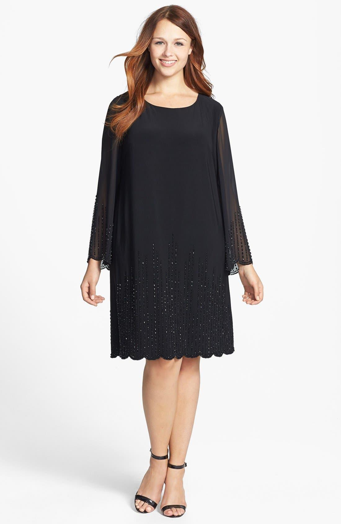 Alternate Image 1 Selected - Xscape Beaded Sheath Dress (Plus Size)