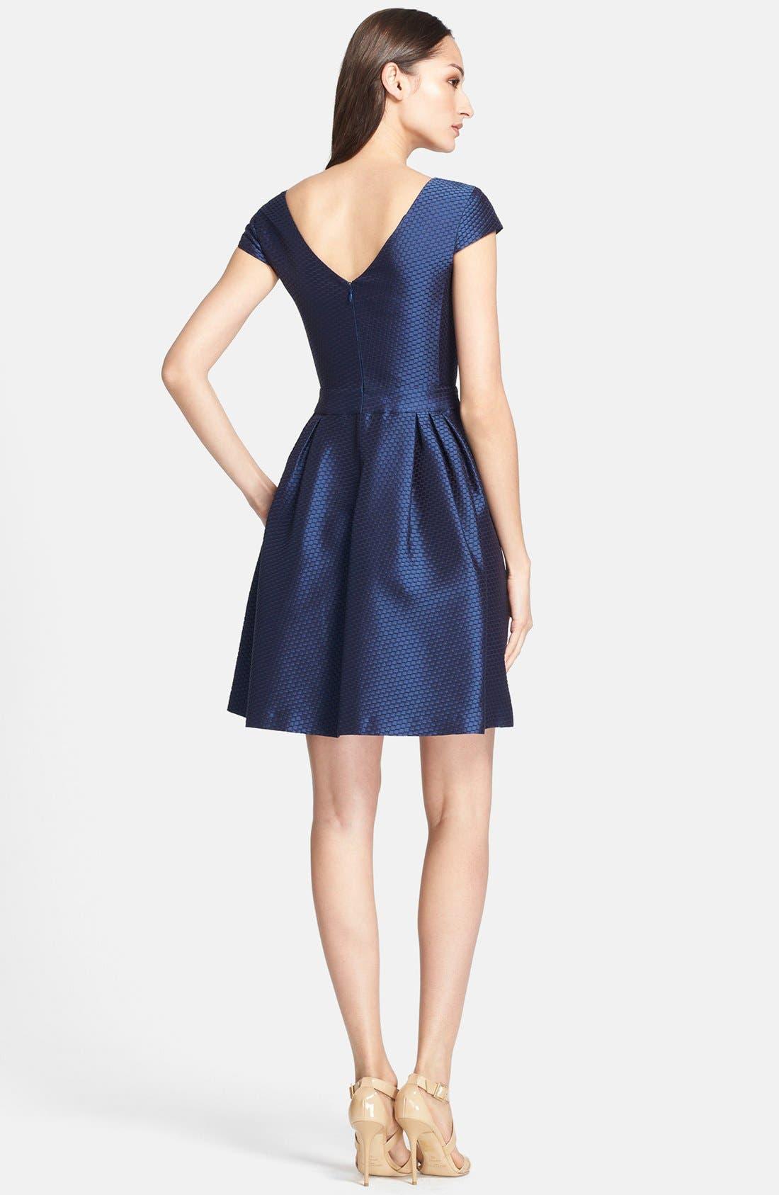 Alternate Image 2  - Armani Collezioni Honeycomb Weave Full Skirt Dress