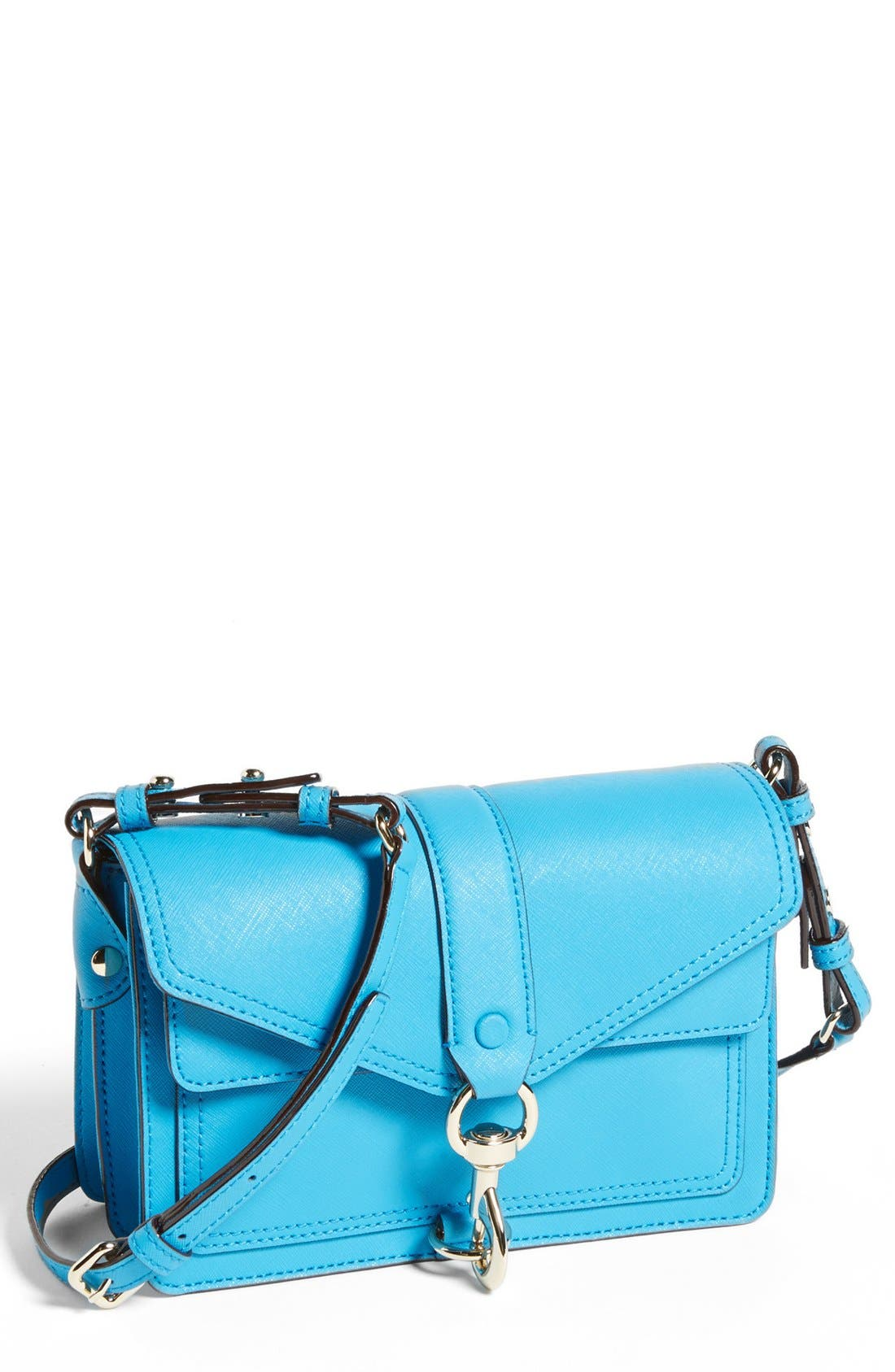 Main Image - Rebecca Minkoff 'Hudson Mini Moto' Crossbody Bag