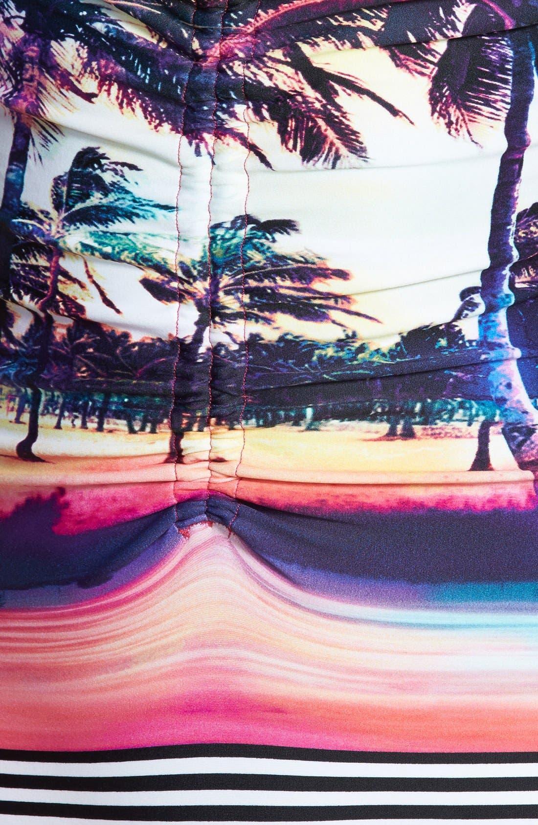 Alternate Image 3  - Roxy 'Sunset Stripes' One-Piece Swimsuit