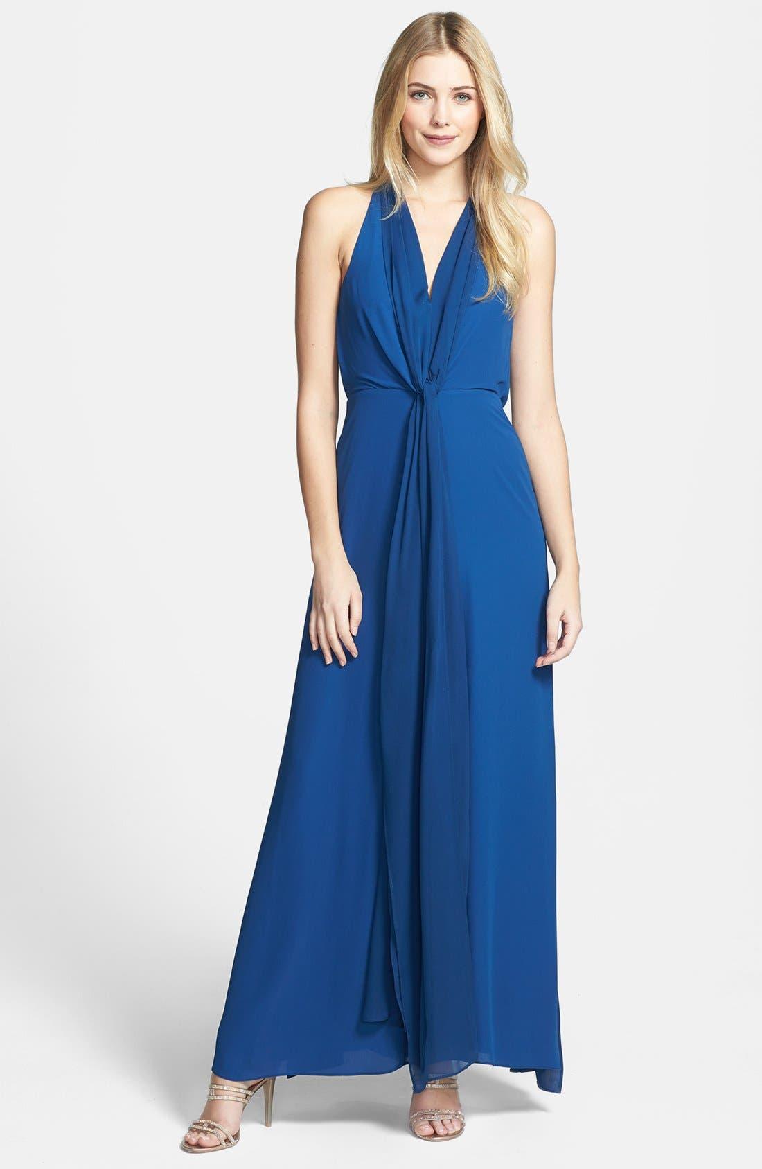 Alternate Image 1 Selected - BCBGMAXAZRIA 'Mara' Halter Gown