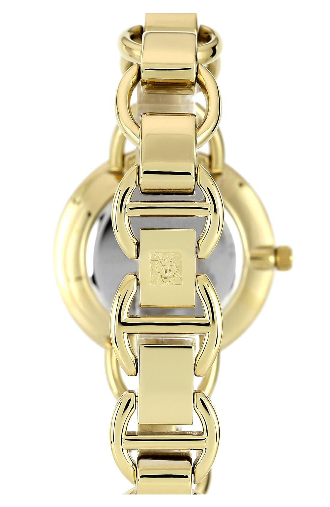 Alternate Image 2  - Anne Klein Diamond Dial Bracelet Watch, 34mm