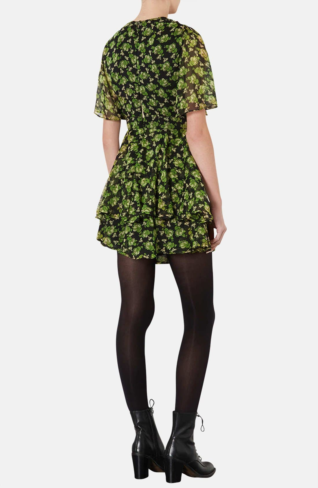 Alternate Image 2  - Topshop 'Floral Bunches' Tiered Chiffon Dress