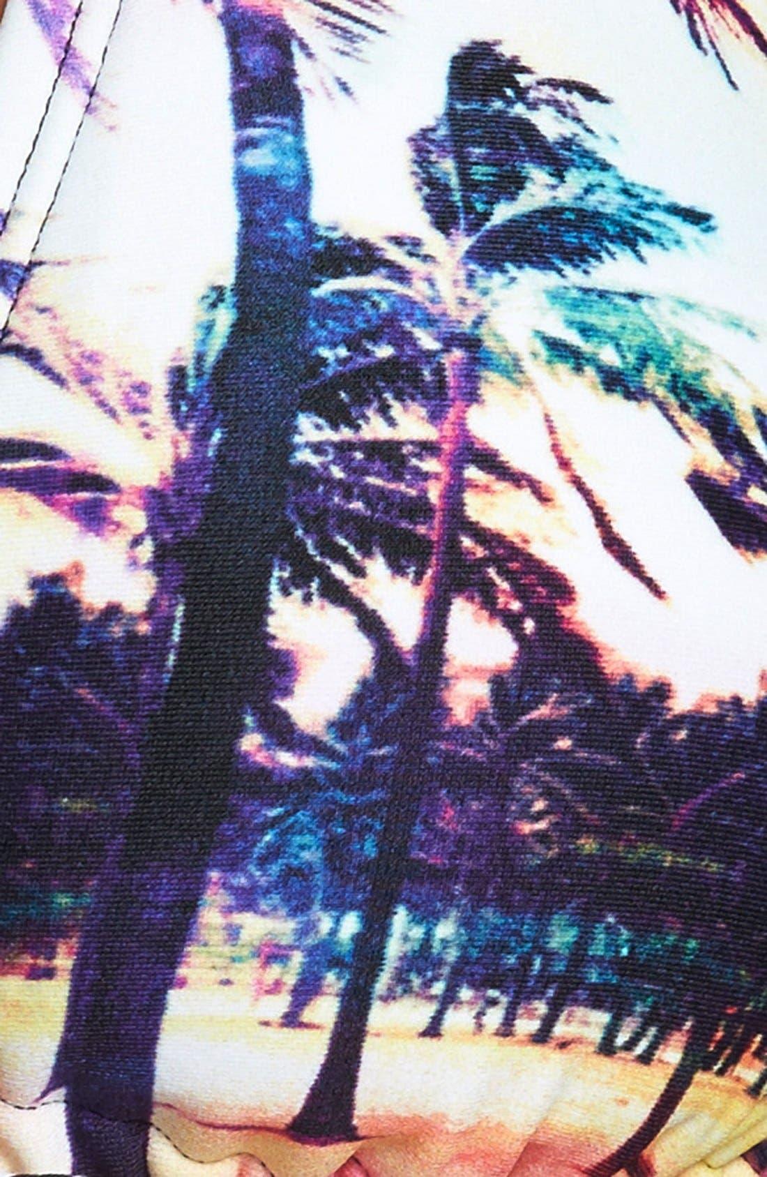 Alternate Image 4  - Roxy 'Sunset Stripes' T-Back Halter Bikini Top