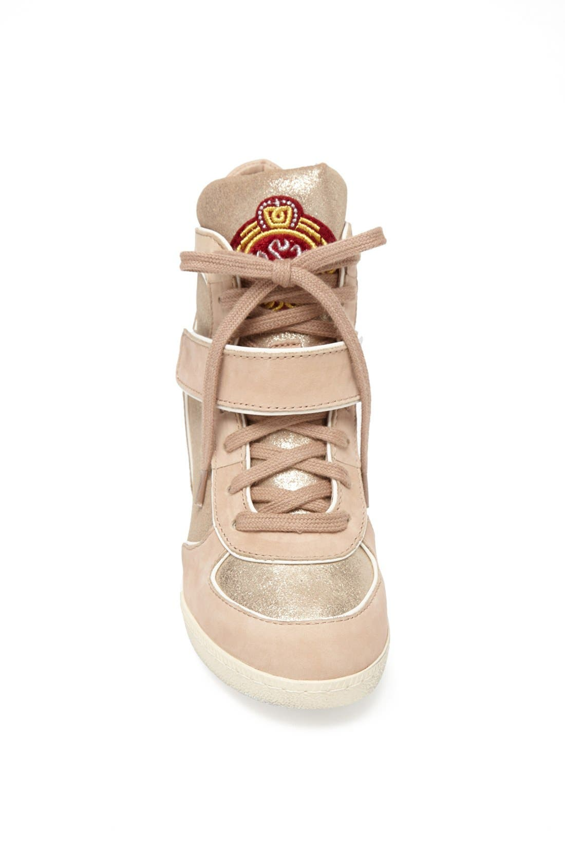 Alternate Image 3  - Ash 'Brendy' Hidden Wedge Suede & Metallic Leather Sneaker