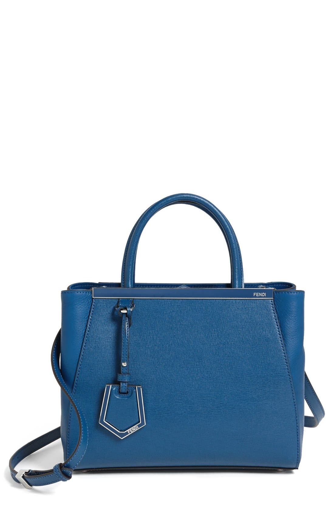 Main Image - Fendi 'Petite 2Jours Elite' Leather Shopper