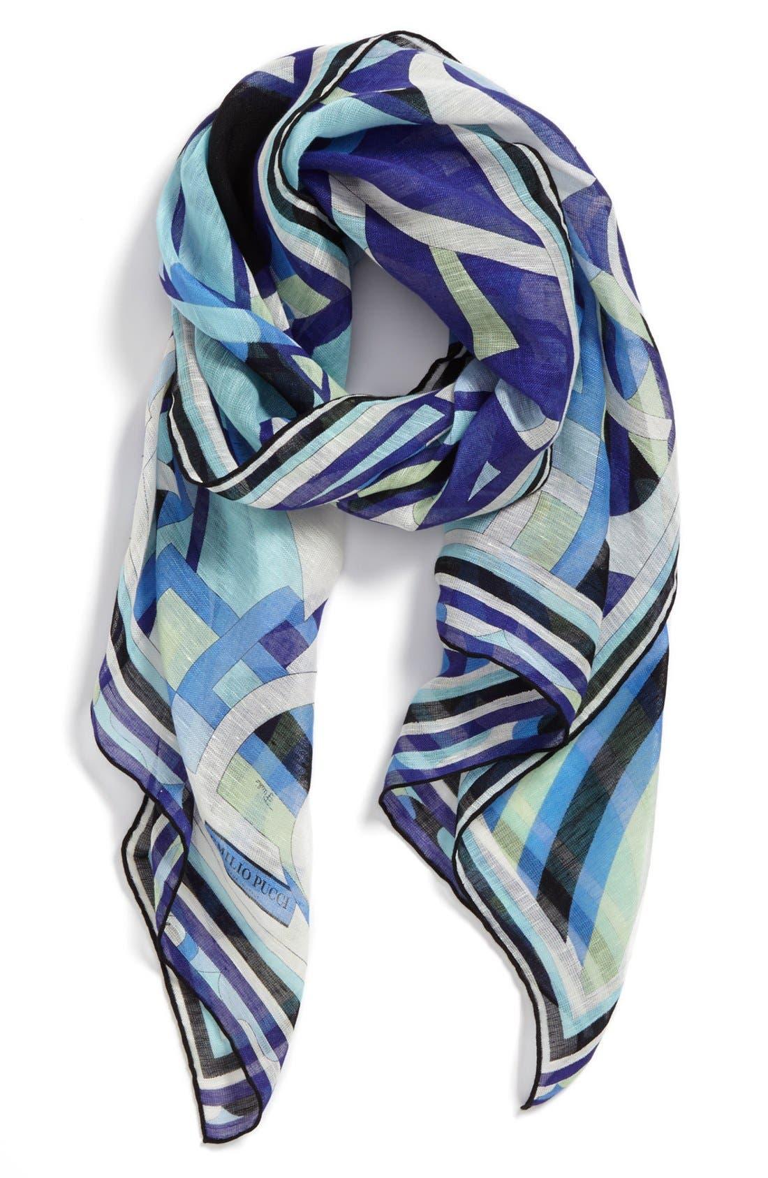 Alternate Image 1 Selected - Emilio Pucci 'Capri' Linen & Cotton Scarf