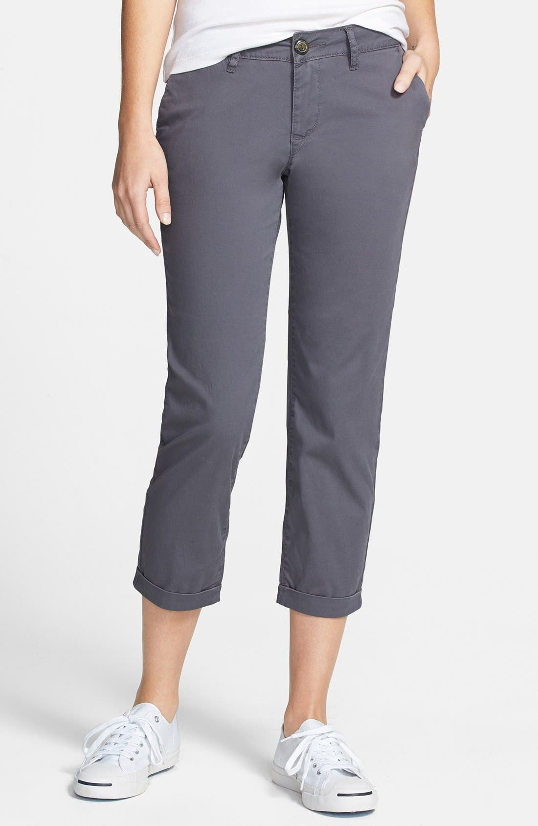 Alternate Image 1 Selected - Jag Jeans 'Cora' Slim Crop Stretch Twill Pants (Regular & Petite)