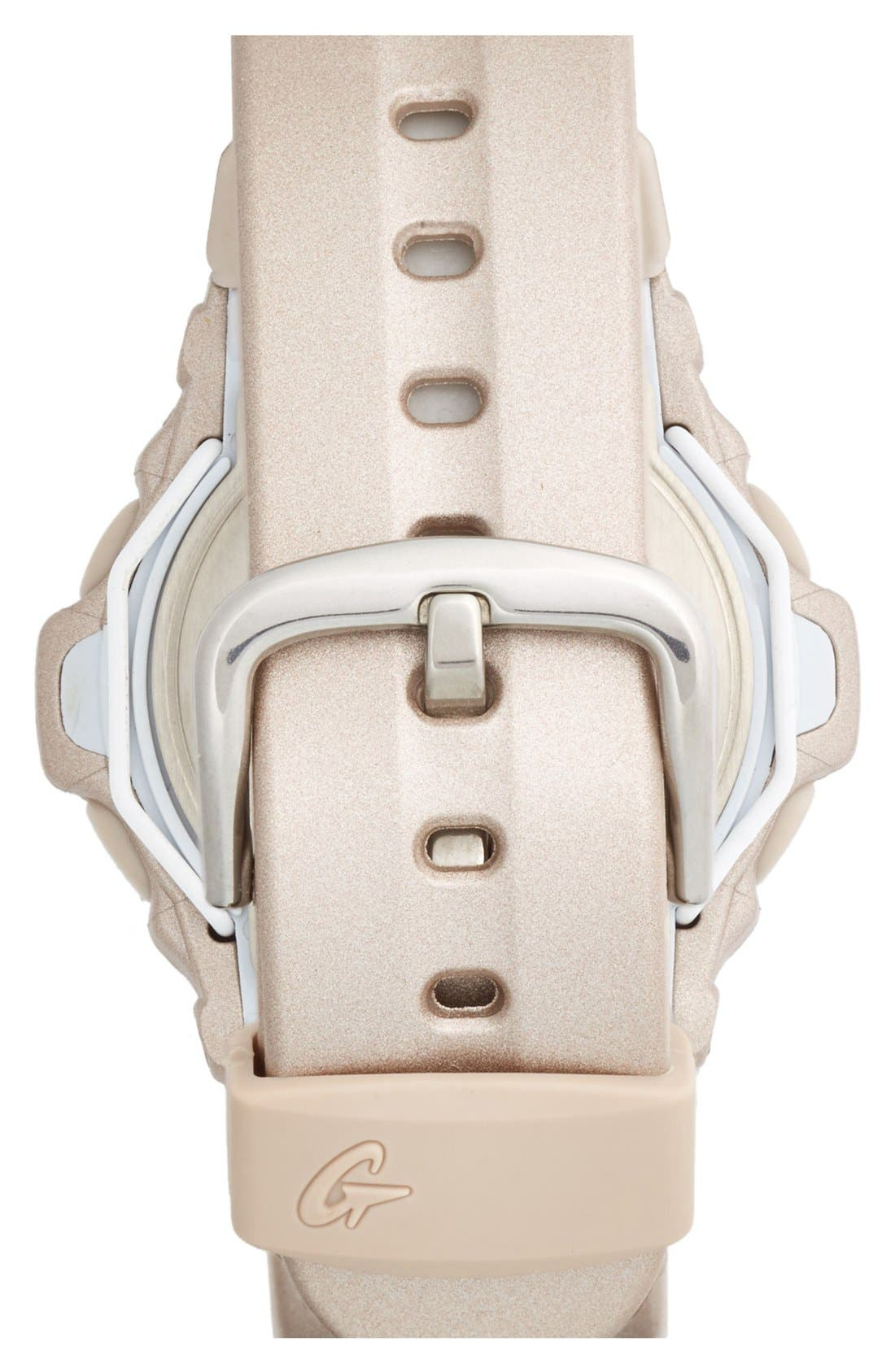 Alternate Image 2  - Baby-G Pink Dial Digital Watch, 46mm x 42mm