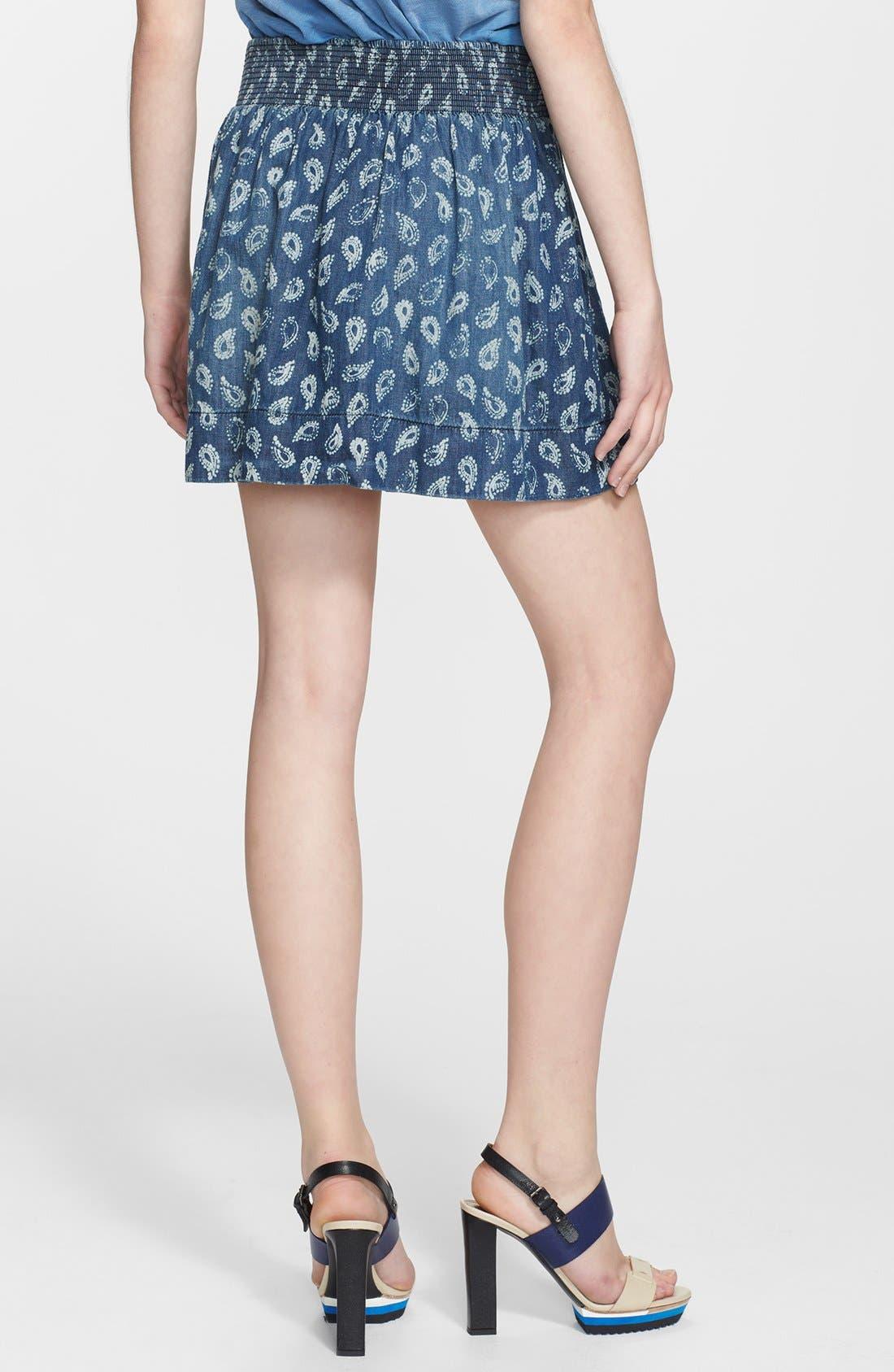 Alternate Image 2  - Current/Elliott 'The Easy Mini' Paisley Denim Skirt