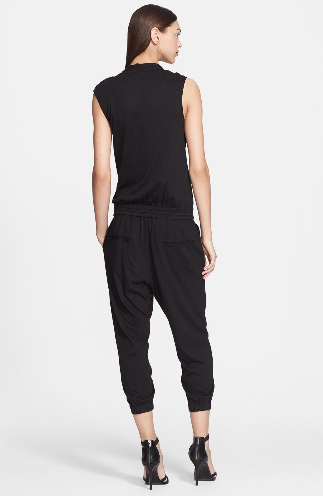 Alternate Image 2  - Helmut Lang Wrap Top Jersey Jumpsuit