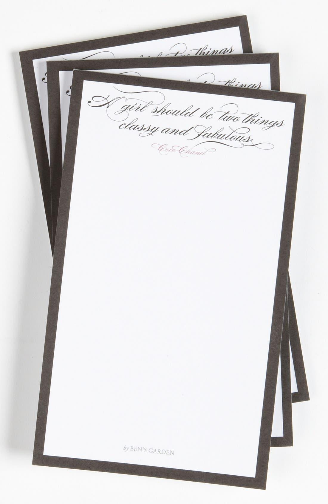 Main Image - Ben's Garden 'Classy and Fabulous' Notepad