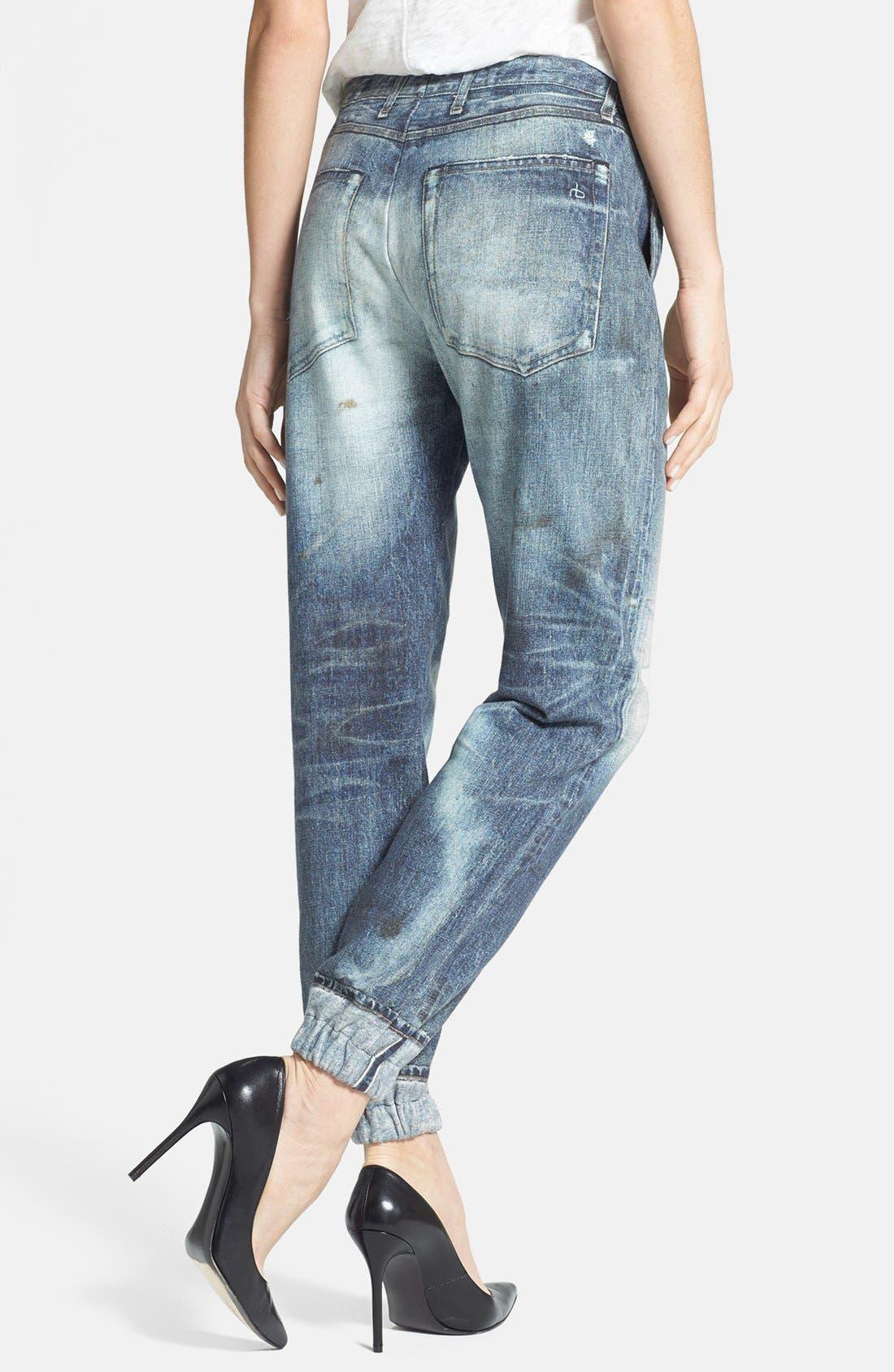 Alternate Image 2  - rag & bone/JEAN 'Pajama Jean' Print Sweatpants (Miramar)