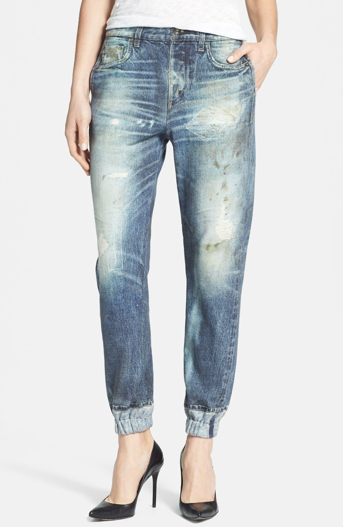 Alternate Image 1 Selected - rag & bone/JEAN 'Pajama Jean' Print Sweatpants (Miramar)
