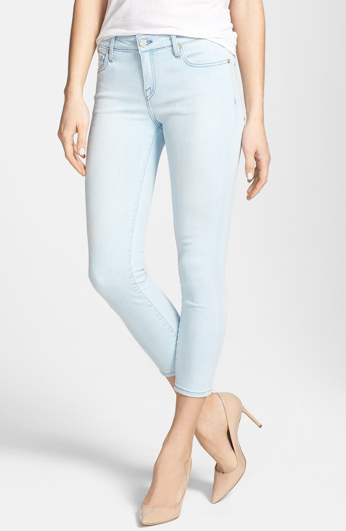 Main Image - Joie Colored Crop Stretch Skinny Jeans (Starlight)