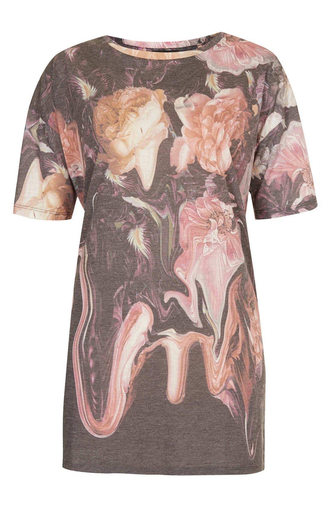 Alternate Image 3  - Topshop Floral Print Tee