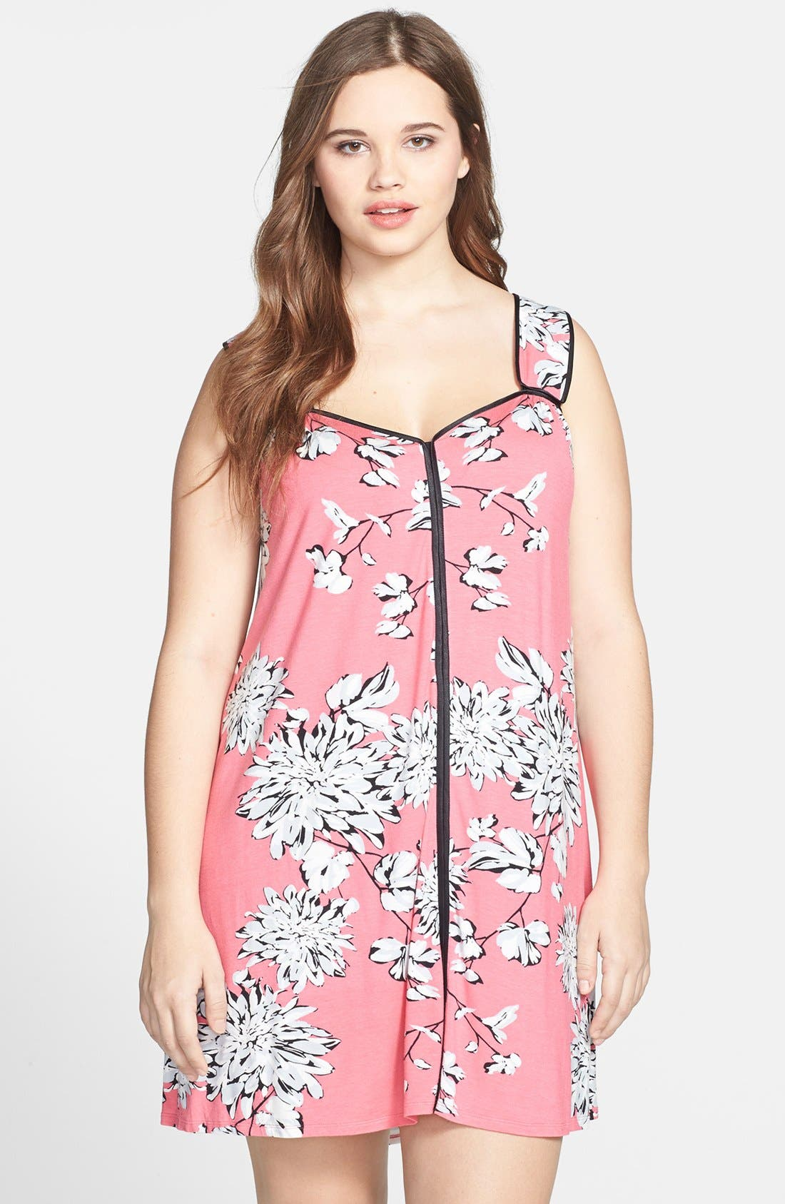 Alternate Image 1 Selected - Midnight by Carole Hochman 'Night Skies' Chemise (Plus Size)