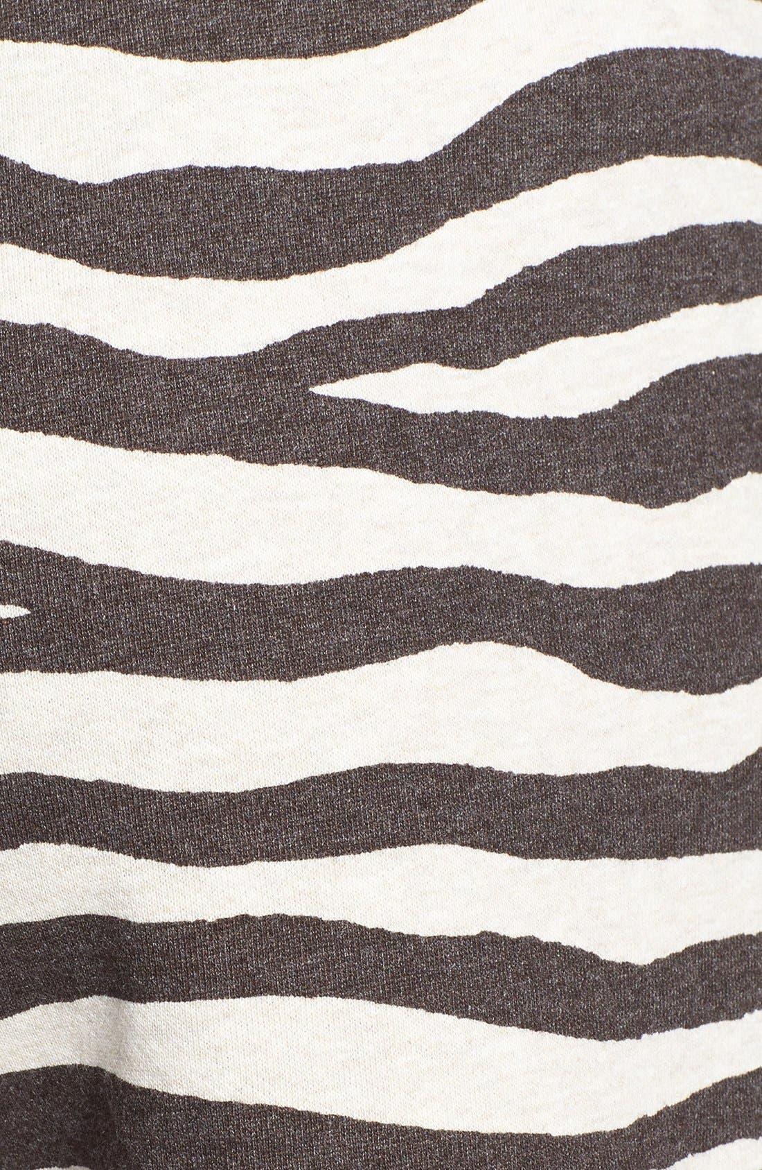 Alternate Image 3  - MICHAEL Michael Kors Zebra Print Terry Shorts