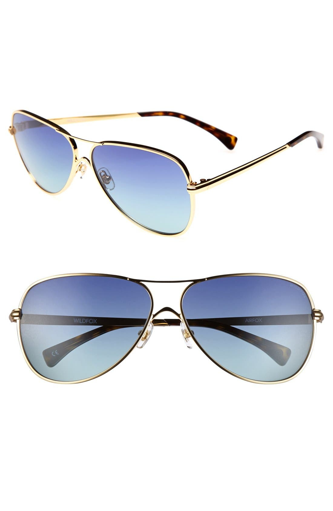 Alternate Image 1 Selected - Wildfox 'Airfox' 57mm Sunglasses