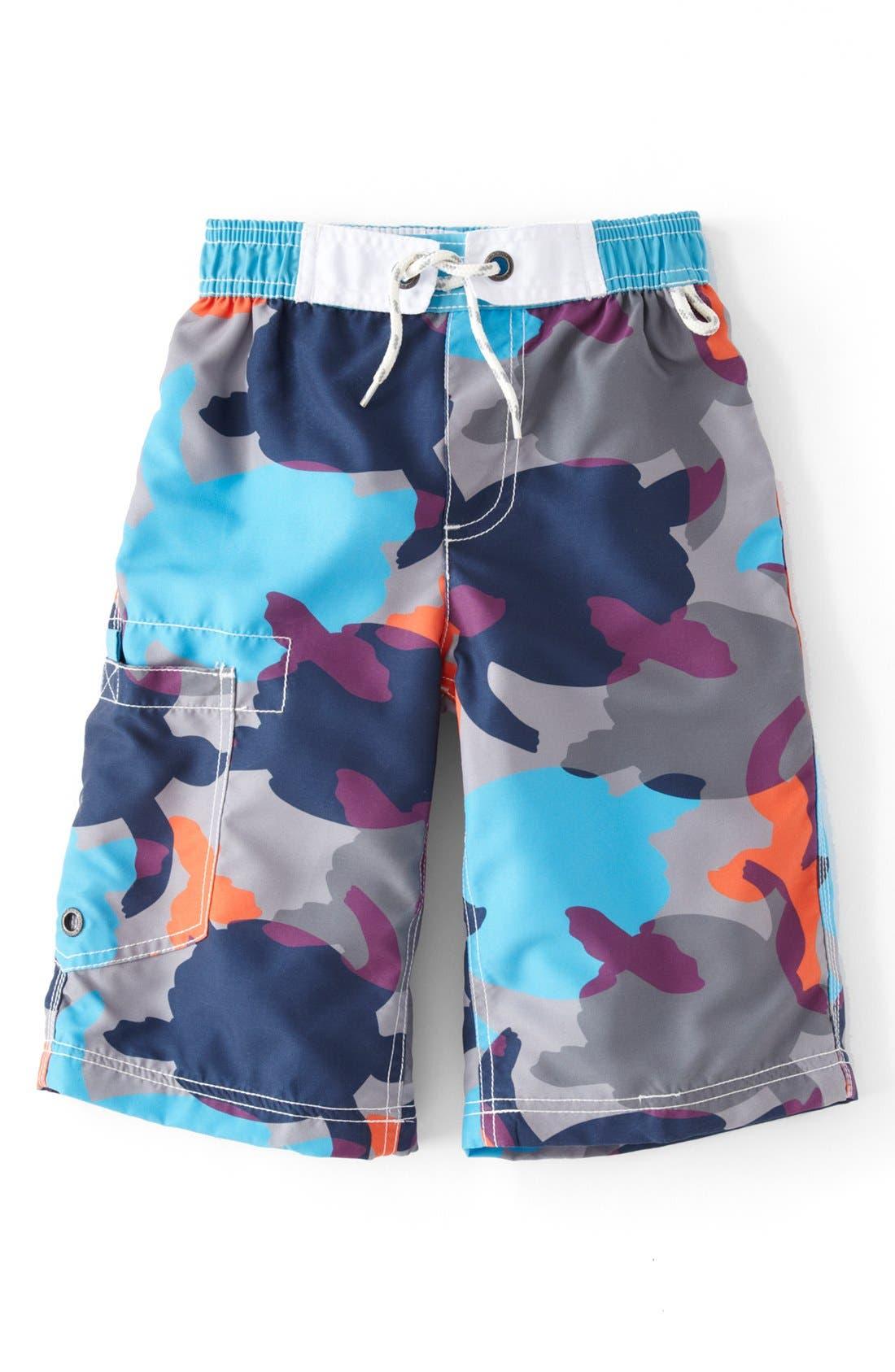 Alternate Image 1 Selected - Mini Boden 'Surf' Shorts (Toddler Boys, Little Boys & Big Boys)
