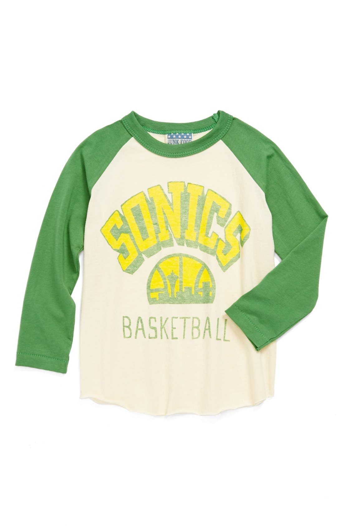 Alternate Image 1 Selected - Junk Food 'Seattle Sonics' Long Sleeve T-Shirt (Little Boys & Big Boys)