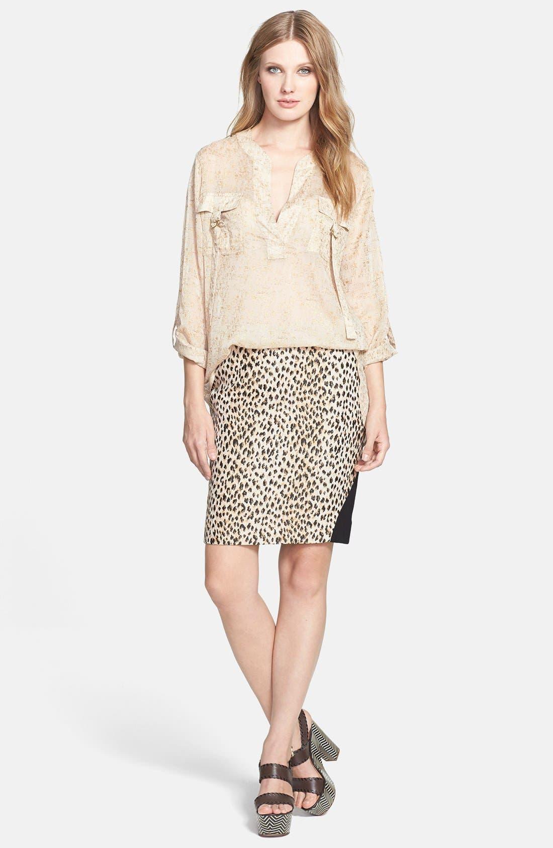 Alternate Image 4  - Diane von Furstenberg 'Mae' Woven Pencil Skirt
