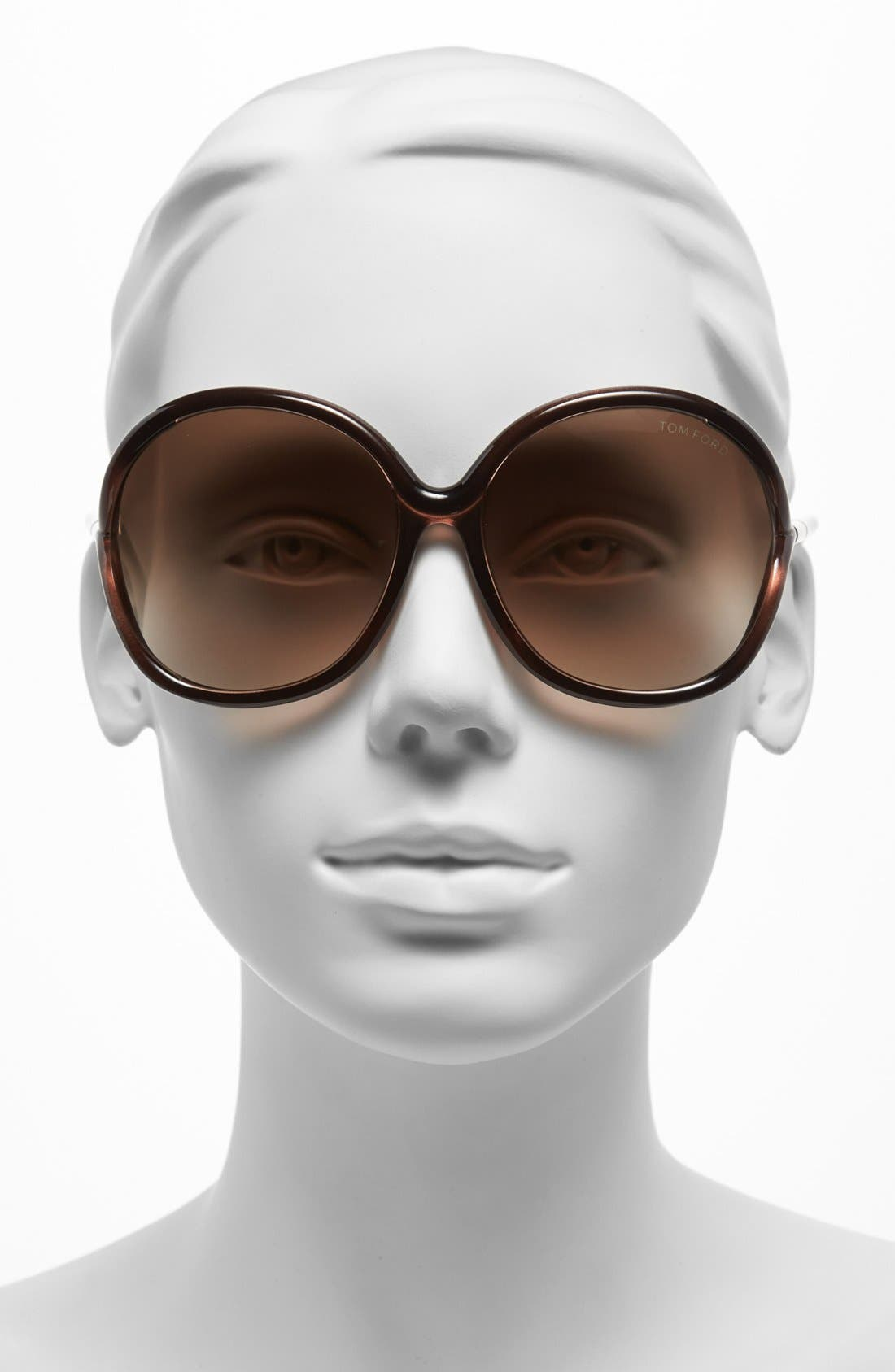 Alternate Image 2  - Tom Ford 59mm Oversized Sunglasses