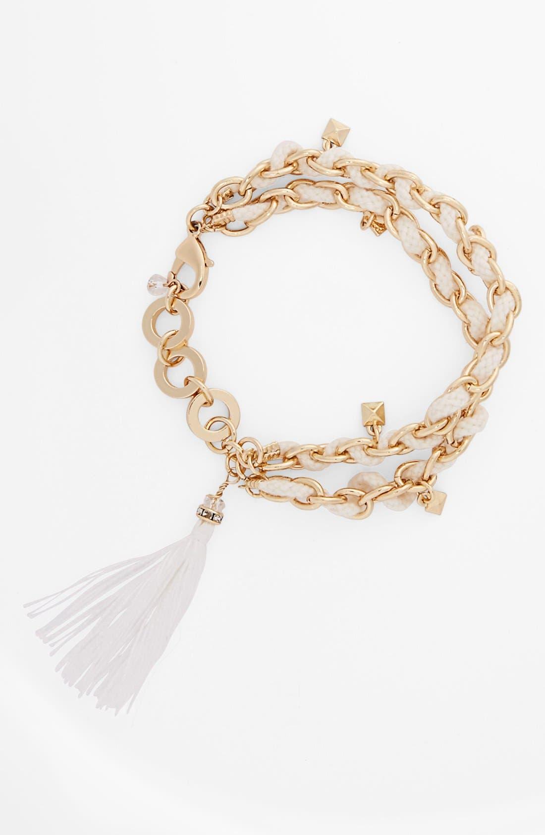 Alternate Image 1 Selected - Sequin Link & Rope Bracelet