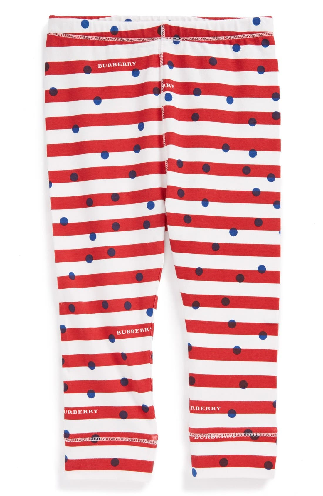 Alternate Image 1 Selected - Burberry 'Mini Penny' Leggings (Baby Girls)