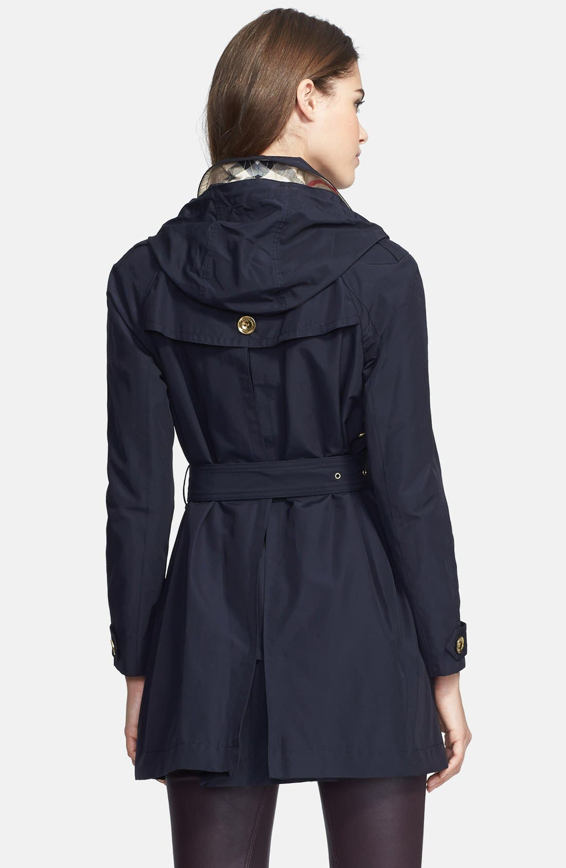 Alternate Image 2  - Burberry Brit 'Levinford' Single Breasted Hooded Trench Coat