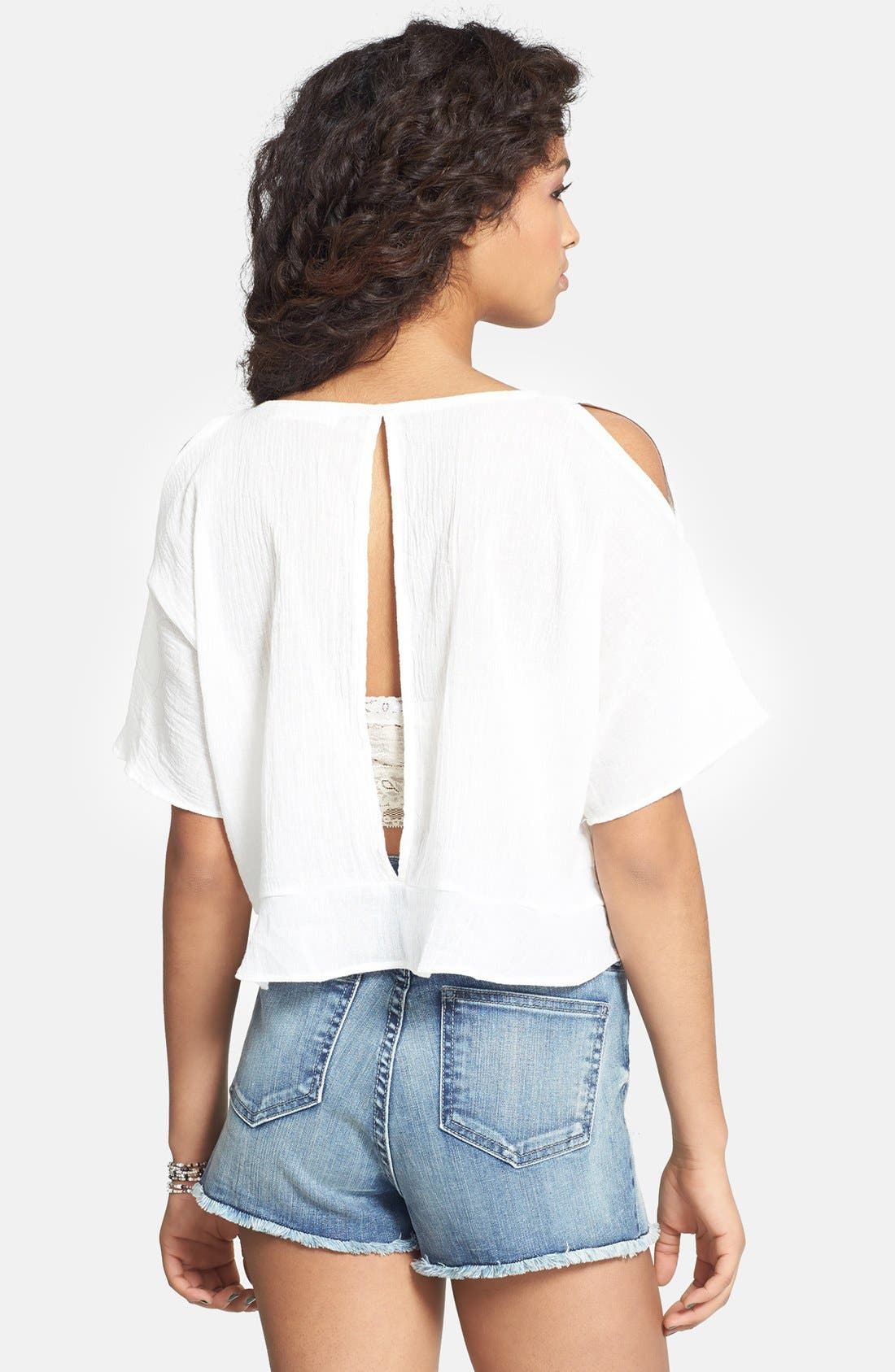 Alternate Image 2  - Haute Society Cutout Cold Shoulder Top (Juniors)