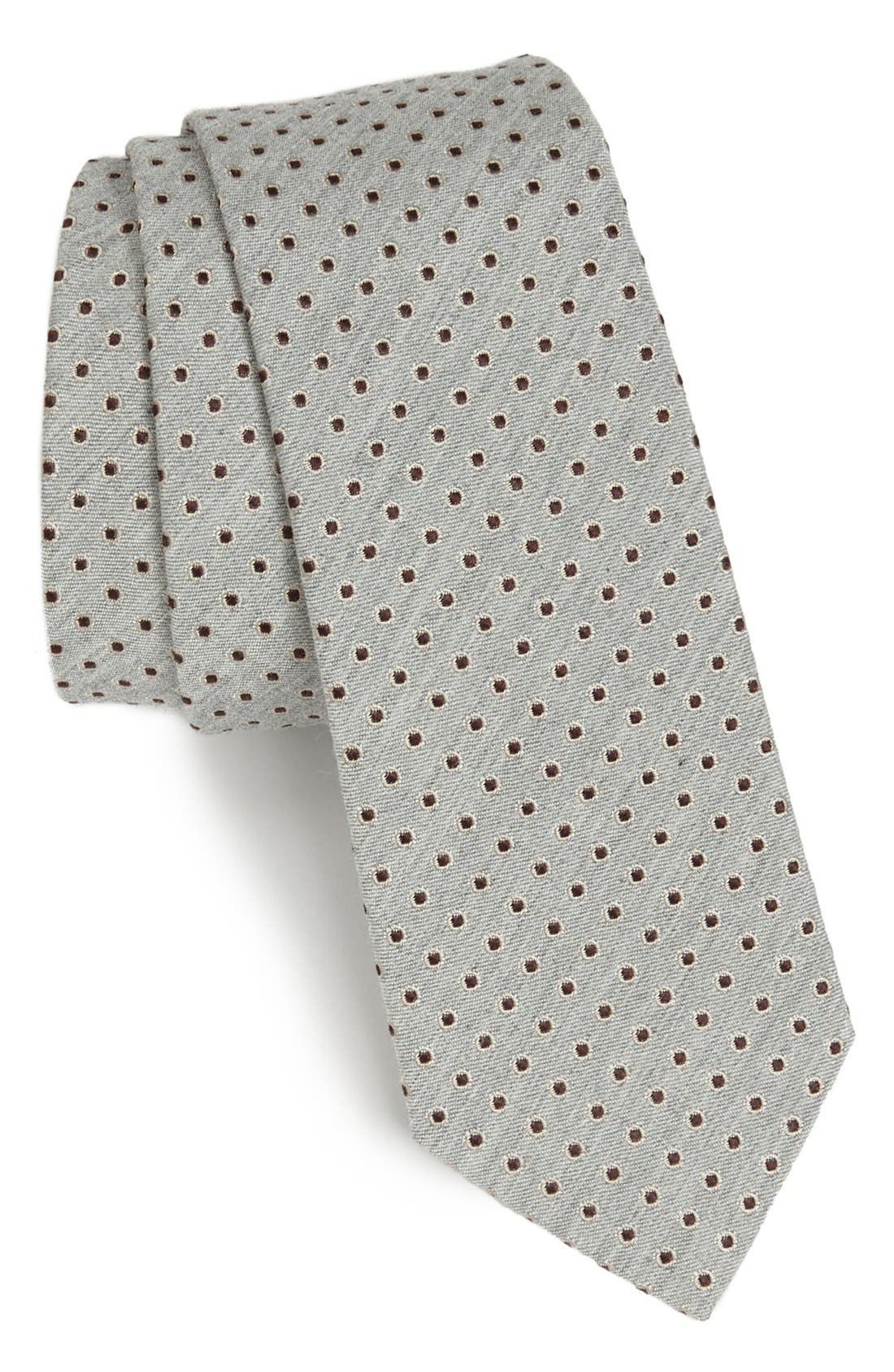 Alternate Image 1 Selected - Dolce&Gabbana Martini Weave Circle Dot Silk Tie