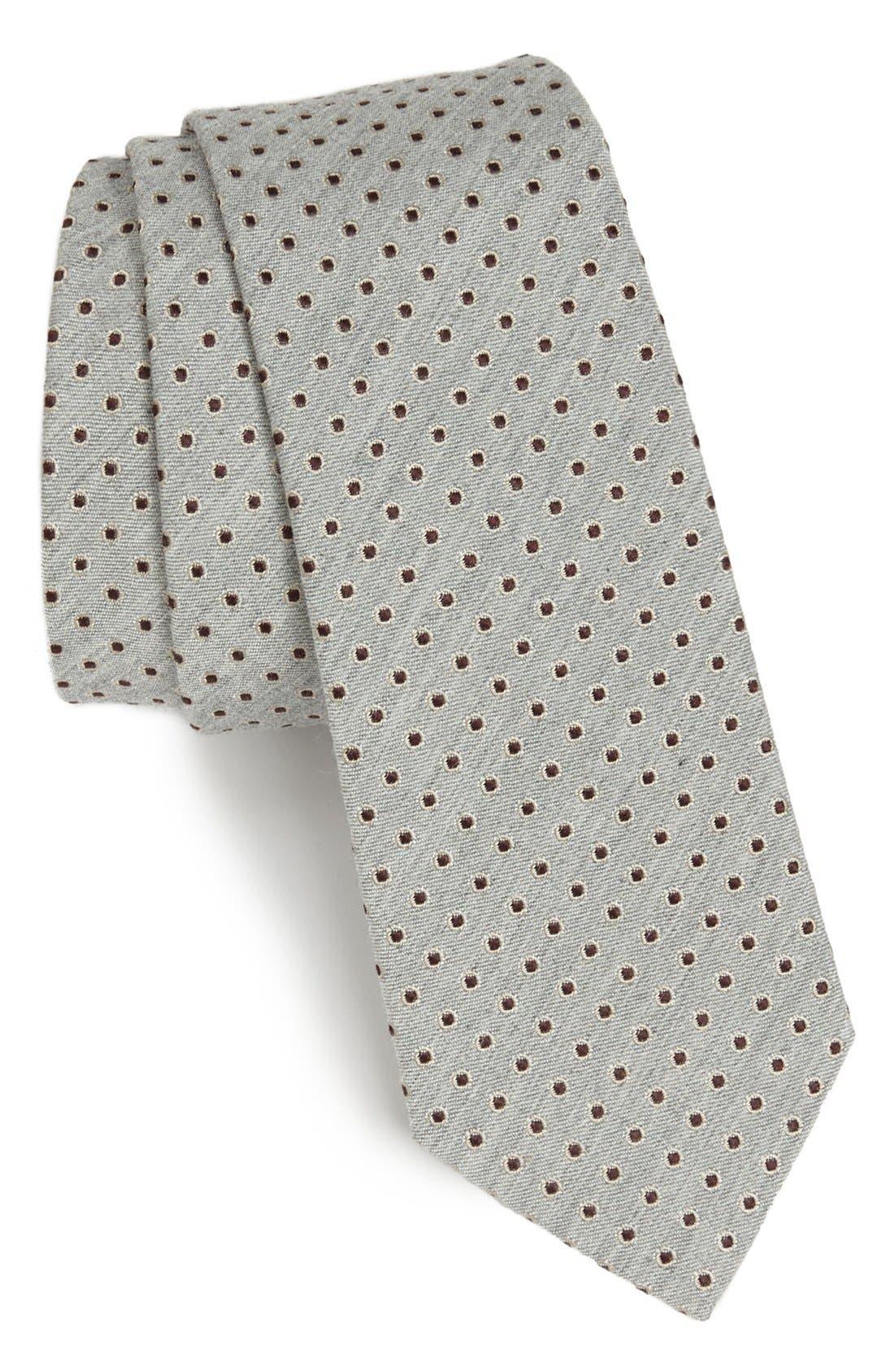 Main Image - Dolce&Gabbana Martini Weave Circle Dot Silk Tie