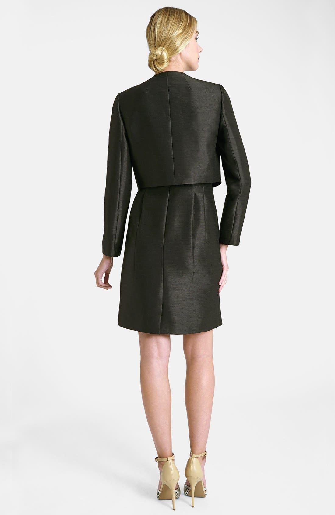 Alternate Image 2  - Tahari Lace Bodice Dress & Jacket