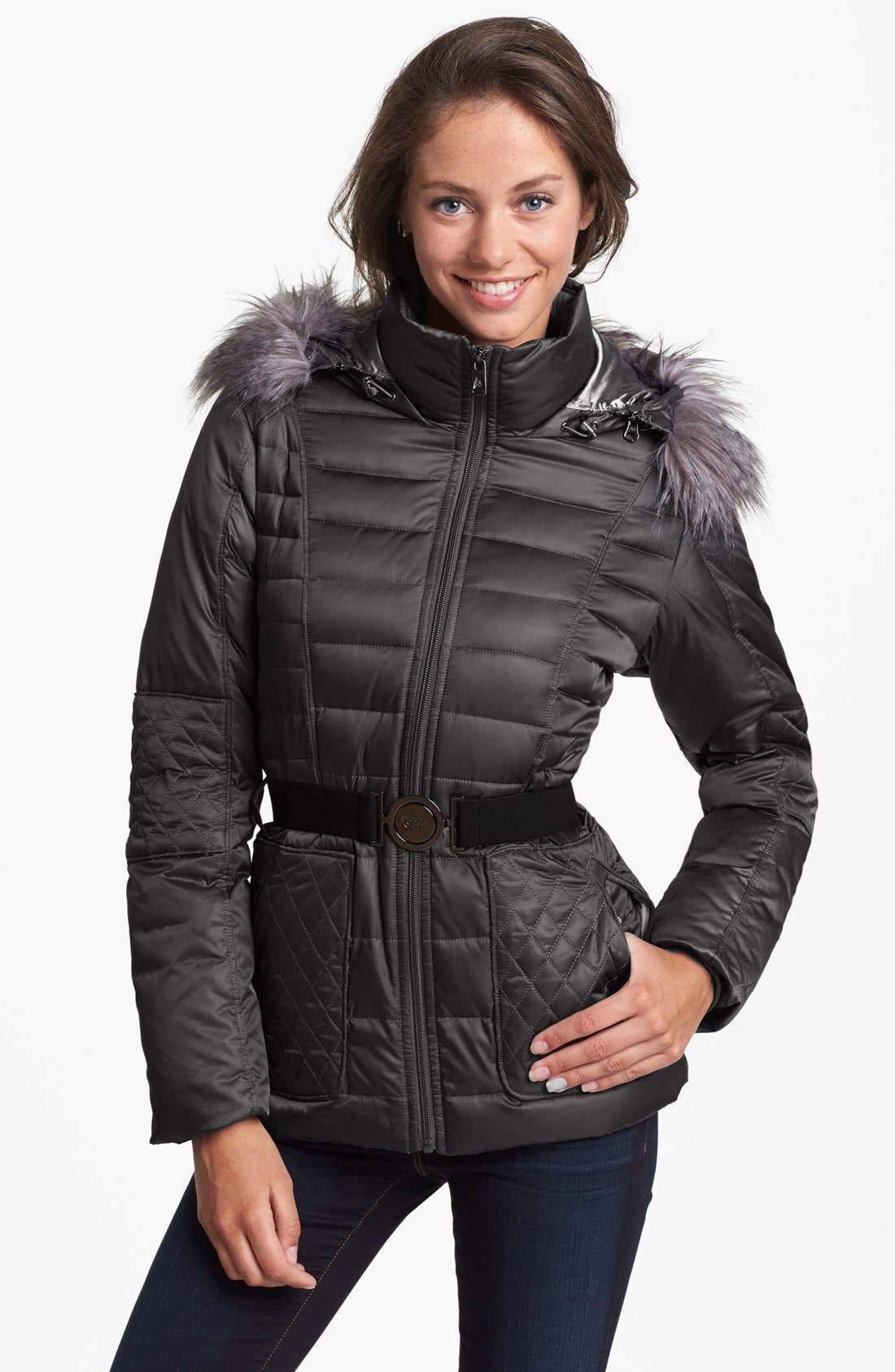 Main Image - The North Face 'Parkina' Belted Down Jacket