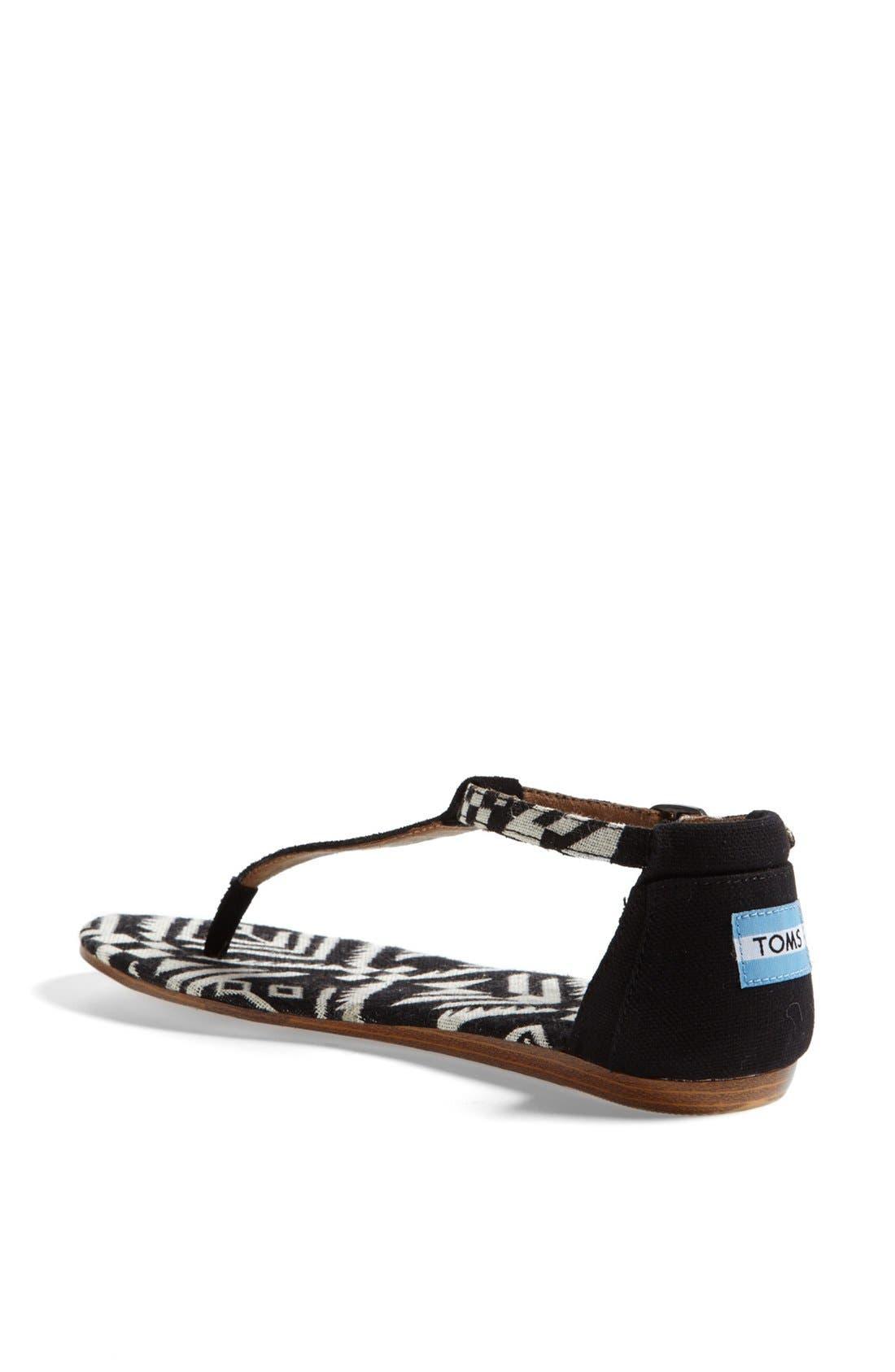 Alternate Image 2  - TOMS 'Playa' T-Strap Flat Sandal
