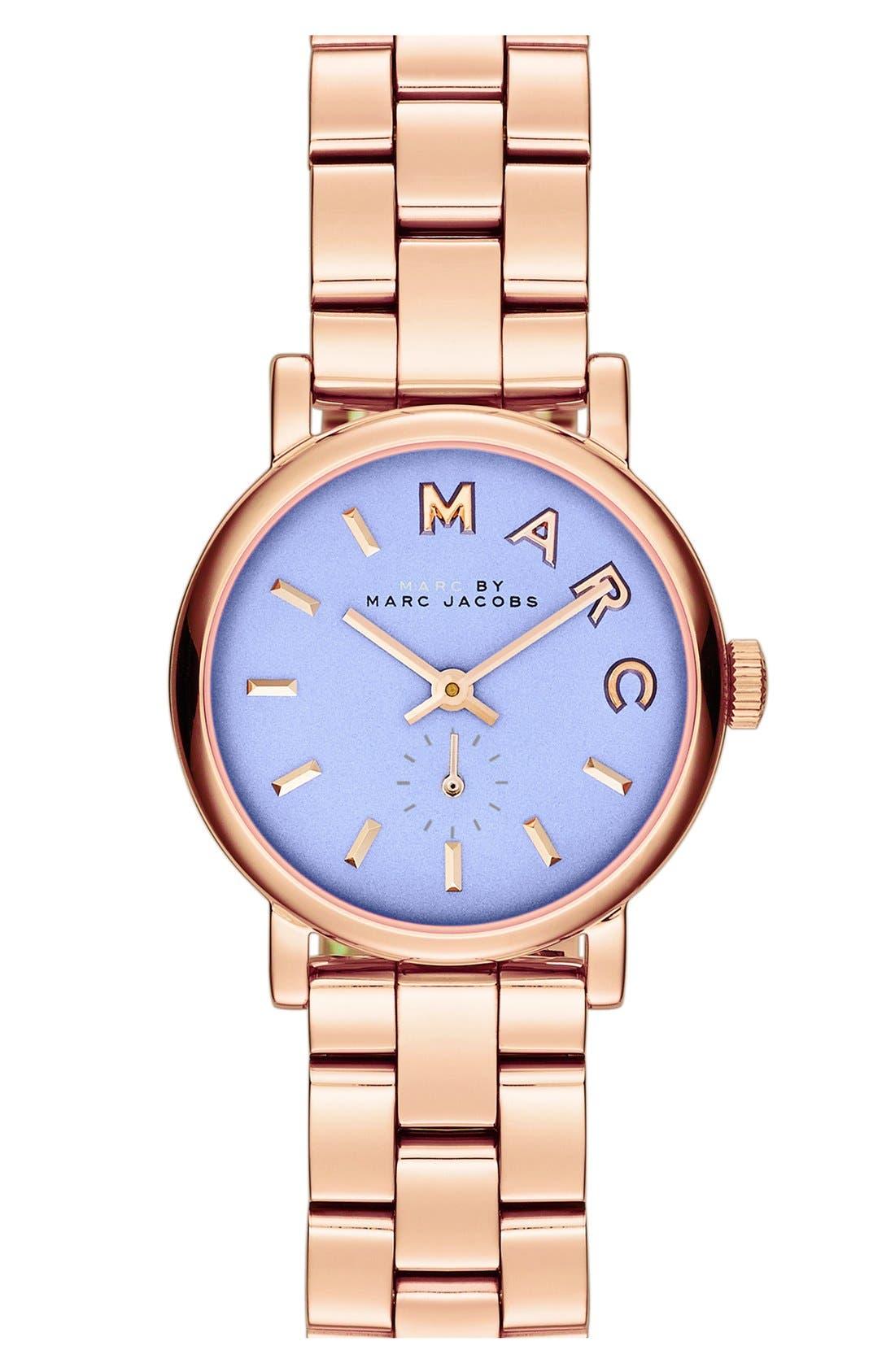 Alternate Image 1 Selected - MARC JACOBS 'Small Baker' Bracelet Watch, 28mm